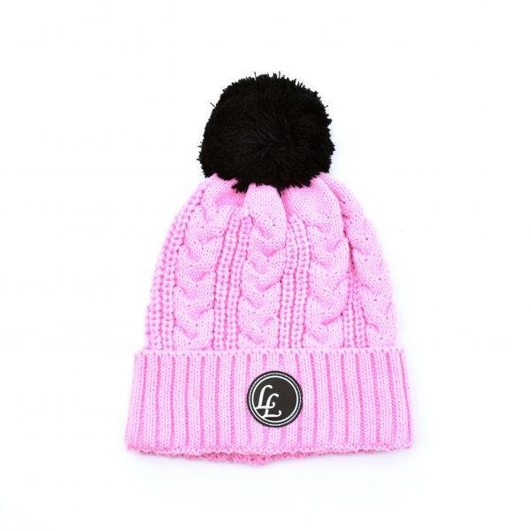 Pink POM Beanie