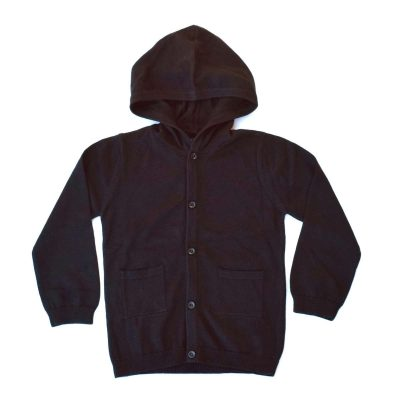 Hoodlum Knit Cardi - Black