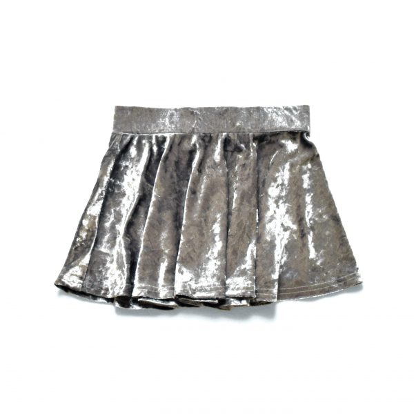 Crushed Skirt - Silver